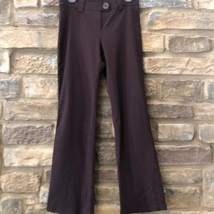 Super stretch casual dress pants chocolate brown